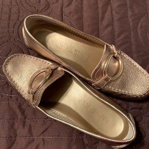 Anne Klein Metallic Loafers
